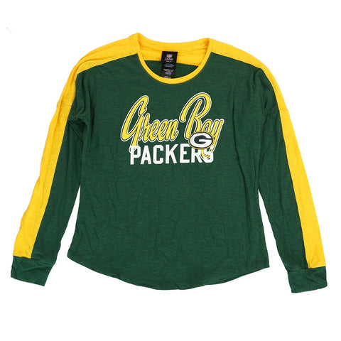 "Green Bay Packers Outerstuff NFL Girls Green Slouchy Pullover ""Unity"" T-Shirt"