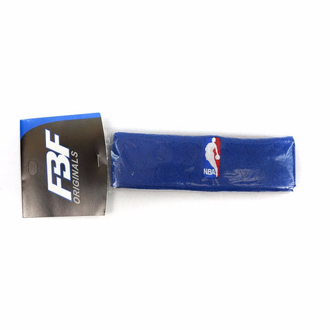 (1) Official NBA Authentic On-Court Blue Headbands Men's