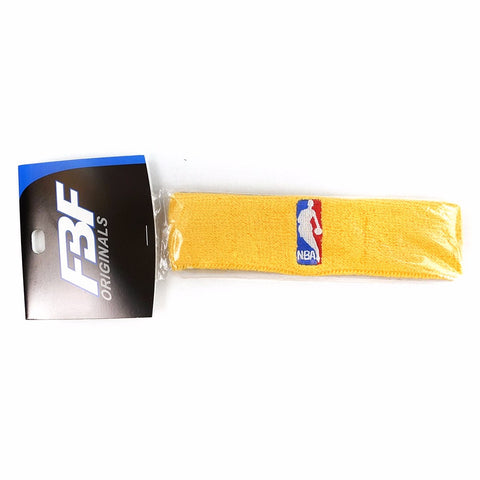 (1) Official NBA Authentic On-Court Gold Headbands Men's