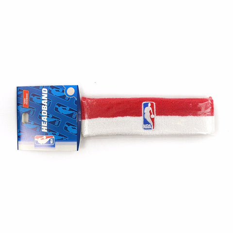 (1) Official NBA Authentic On-Court Red/White Headbands Men's