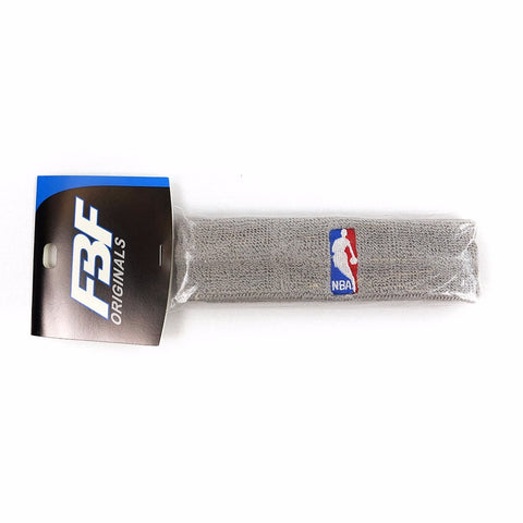 (1) Official NBA Authentic On-Court Grey Headbands Men's
