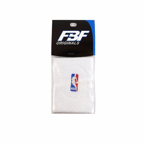 (1) Pair of Official NBA Dribbler Authentic On-Court White Wristbands