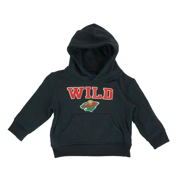 Minnesota Wild Reebok NHL Primary Team Logo Black Pullover Hoodie Toddler 2T-4T