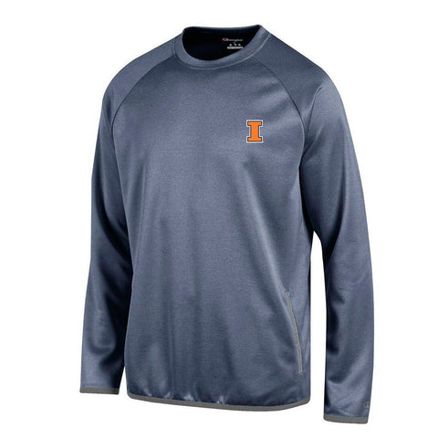 Illinois Fighting Illini NCAA Champion Men's Convergence Navy Pullover Crew