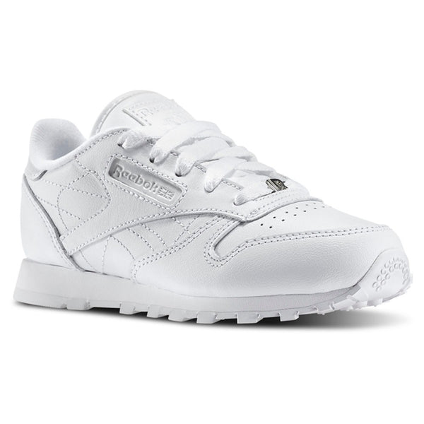 Reebok Classic Leather (WHITE/WHITE/WHITE) PS (PRE SCHOOL) Shoes J90140