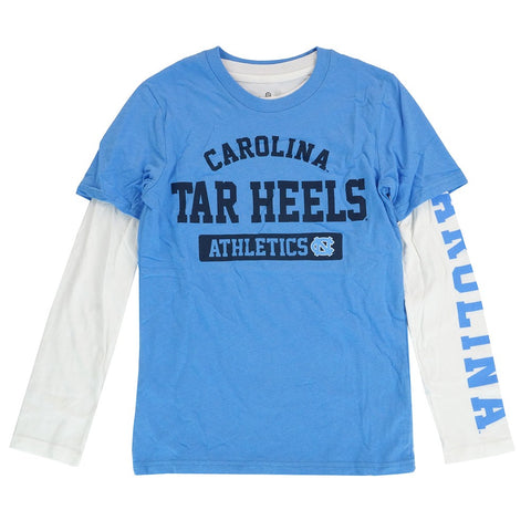 North Carolina Tar Heels NCAA Youth Lt Blue 3 in 1 Long/Short Sleeve Shirt Set