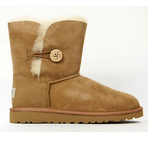 UGG Australia Bailey Button (Chestnut) Toddler  5991