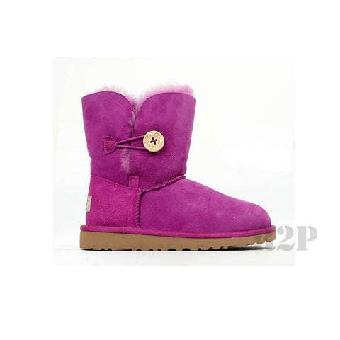 UGG Australia Bailey Button (Pink) Kids  5991
