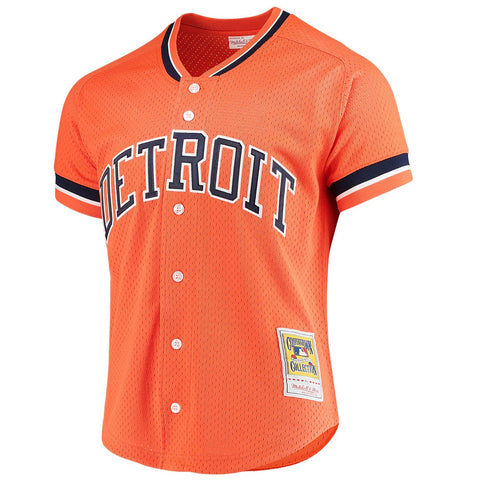 Sparky Anderson 1993 Detroit Tigers Mitchell & Ness MLB Batting Practice Jersey