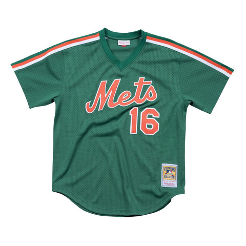 Dwight Gooden 1988 Mitchell & Ness New York Mets Authentic Mesh BP Green Jersey