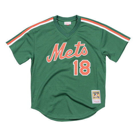 Darryl Strawberry 1988 Mitchell & Ness New York Mets Authentic Mesh BP Jersey