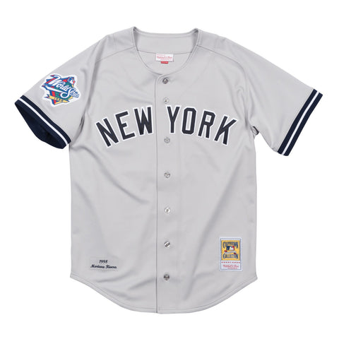 Mariano Rivera New York Yankees MLB Mitchell & Ness Men's Grey Men Jersey