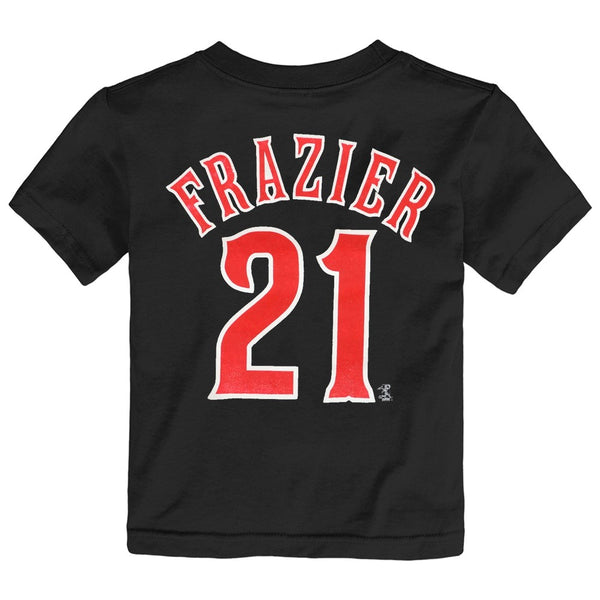 Todd Frazier MLB Cincinnati Reds Team Player Black Jersey T-Shirt Toddler 2T-4T