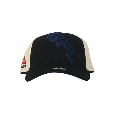 Reebok UFC Men's Black/Blue Official Logo Structured Flex Cap Hat BE7421