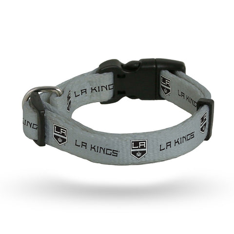 Los Angeles Kings NHL Team Color Polyester Pet Collar (S-L) by Rico Industries