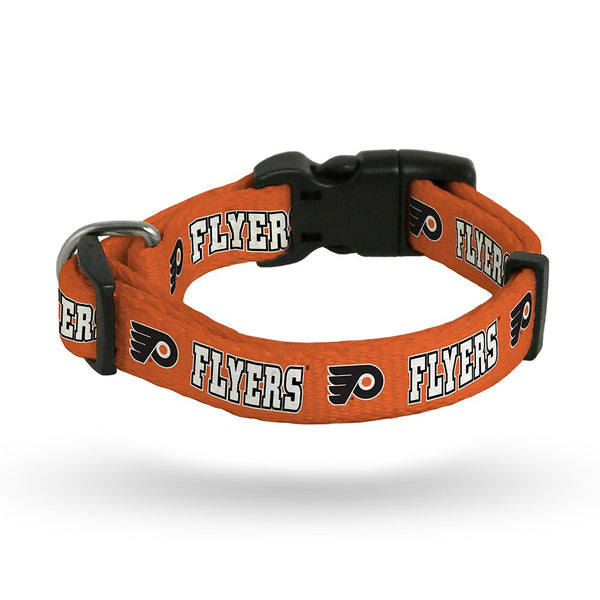 Philadelphia Flyers NHL Team Color Polyester Pet Collar (S-L) by Rico Industries