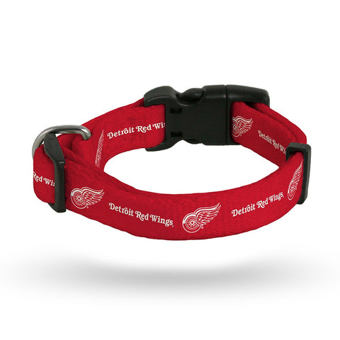 Detroit Red Wings NHL Team Color Polyester Pet Collar (S-L) by Rico Industries