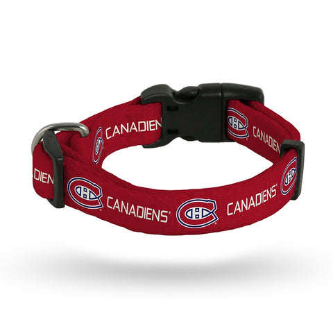 Montreal Canadiens NHL Team Color Polyester Pet Collar (S-L) by Rico Industries