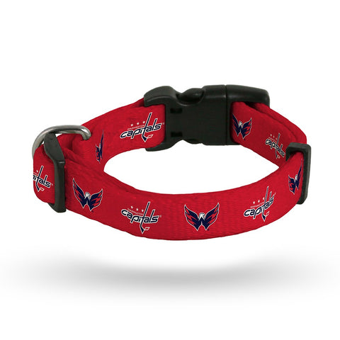 Washington Capitals NHL Team Color Polyester Pet Collar (S-L) by Rico Industries