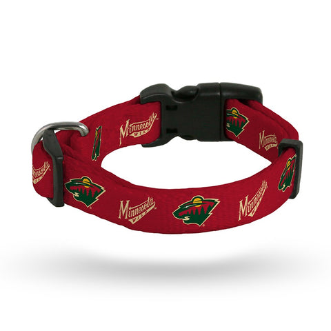 Minnesota Wild NHL Team Color Polyester Pet Collar (S-L) by Rico Industries