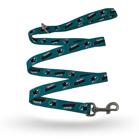 San Jose Sharks NHL Double Print Team Logo Dog Pet Leash by Rico Industries