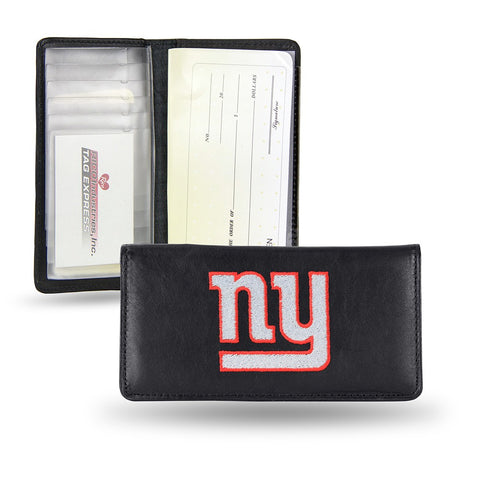 New York Giants NFL Embroidered Team Logo Leather Checkbook Wallet by RICO