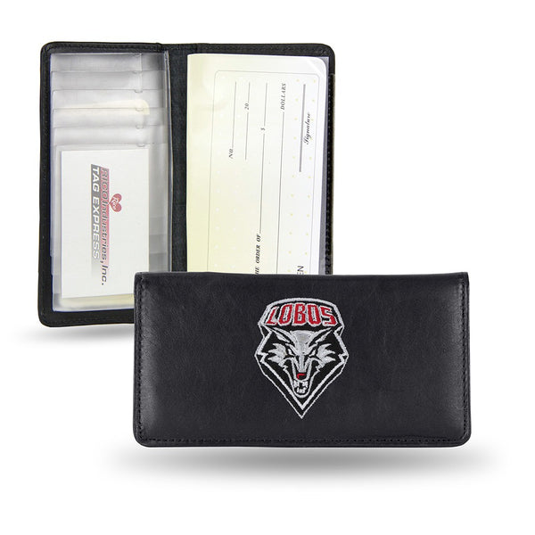 New Mexico Lobos NCAA Embroidered Team Logo Leather Checkbook Wallet by RICO