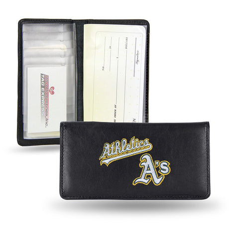 Oakland Athletics MLB Embroidered Team Logo Leather Checkbook Wallet by RICO