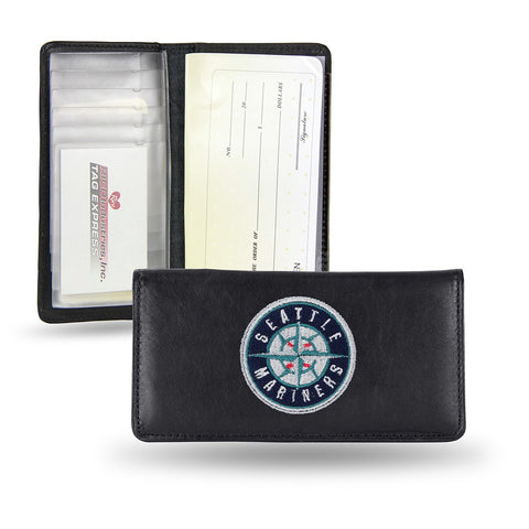 Seattle Mariners MLB Embroidered Team Logo Leather Checkbook Wallet by RICO