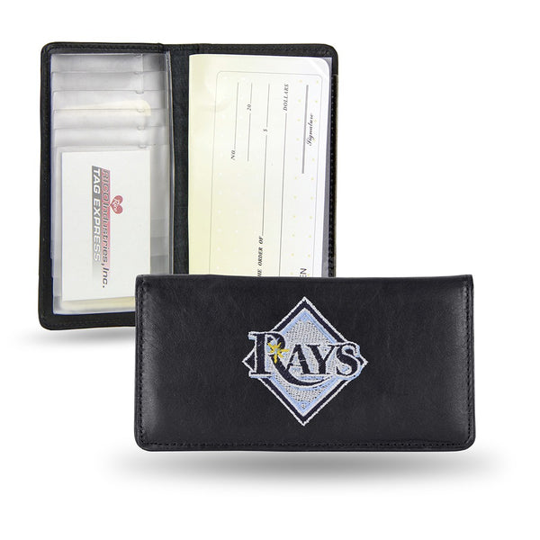 Tampa Bay Rays MLB Embroidered Team Logo Leather Checkbook Wallet by RICO