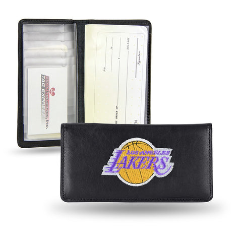 Los Angeles Lakers NBA Embroidered Team Logo Leather Checkbook Wallet by RICO