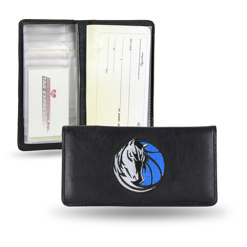 Dallas Mavericks NBA Embroidered Team Logo Leather Checkbook Wallet by RICO