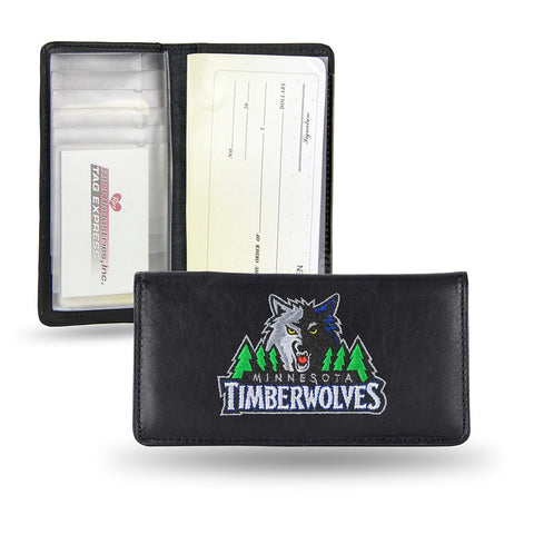 Minnesota Timberwolves NBA Embroidered Team Logo Leather Checkbook Wallet RICO