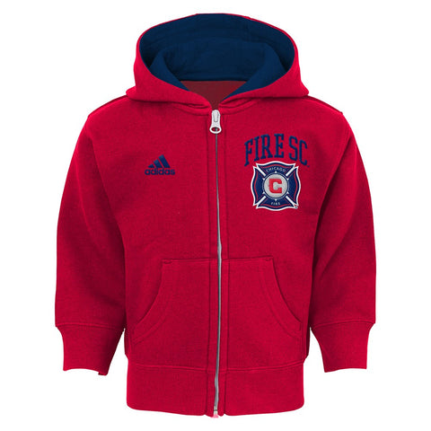 Chicago Fire MLS Toddler's Red Full Zip Graphic Fleece Hoodie