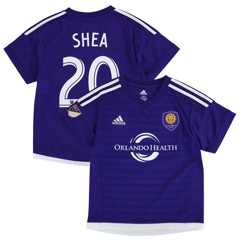 Brek Shea MLS Adidas Orlando City SC Home Purple Soccer Replica Jersey Boys 4-7