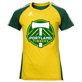 Portland Timbers Adidas MLS Youth Yellow Club Surface T-Shirt