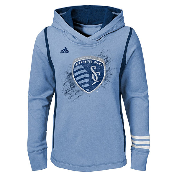 Sporting Kansas City Adidas MLS Performance Team Pullover Hoodie Youth Girls
