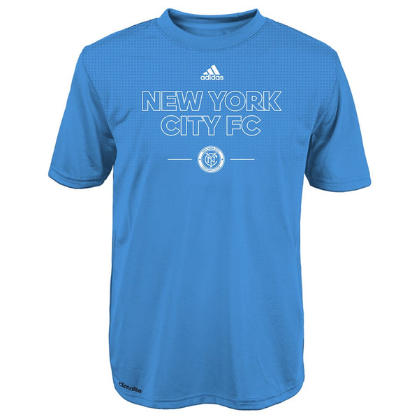 "New York City FC Adidas MLS Youth Blue ""Club Authentic"" Climalite T-Shirt"