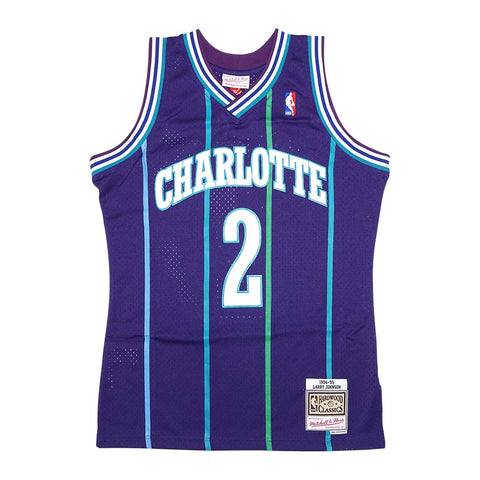 Larry Johnson NBA 1994-95 Charlotte Hornets Mitchell & Ness Swingman Jersey