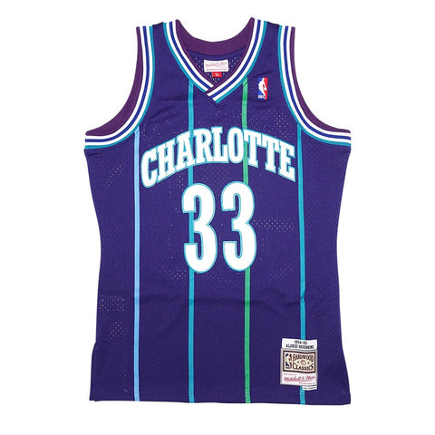 Alonzo Mourning NBA 1994-95 Charlotte Hornets Mitchell & Ness Swingman Jersey