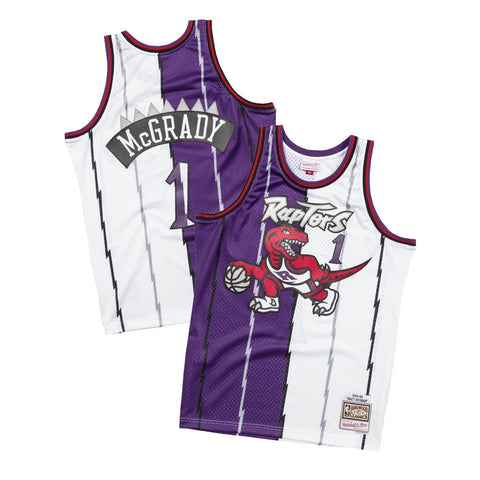 Tracy McGrady 1998-99 Toronto Raptors Mitchell & Ness Split Swingman Jersey