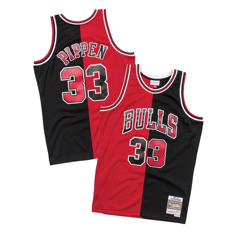 Scottie Pippen 1997-98 Chicago Bulls Mitchell & Ness Men's Split Swingman Jersey