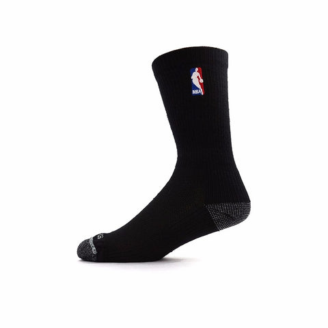 (1) Paif of Official NBA Dribbler Agility Black Crew Socks Men's (XL-2XL)