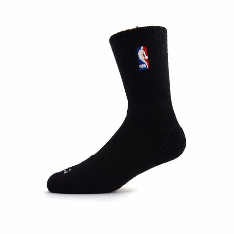 (1) Paif of Official NBA Dribbler Performance Power Black Crew Socks Men's