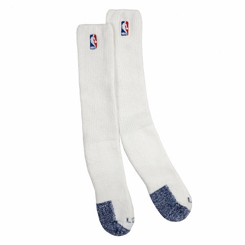 (1) Paif of Official NBA Dribbler Performance Power White Tube Socks Men's Large