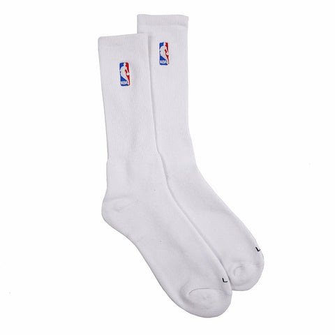 (1) Paif of Official NBA Dribbler Performance White Speed Crew Socks Men's