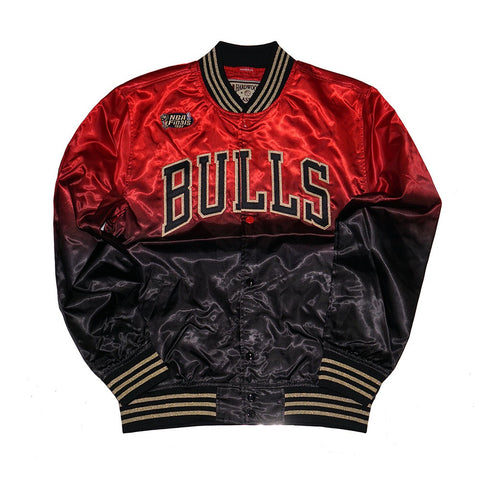 Chicago Bulls NBA Men's Mitchell & Ness  Black Chinese New Year CNY Satin Jacket