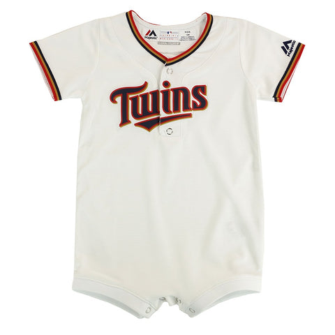 Minnesota Twins MLB Majestic Infant White Cool Base Home Replica Jersey Creeper