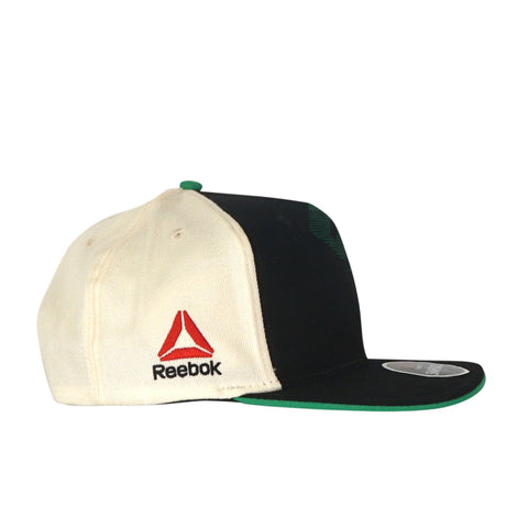 Reebok UFC Men's Black/Green Authentic Flat Brim Flat Brim Snapback BE7426