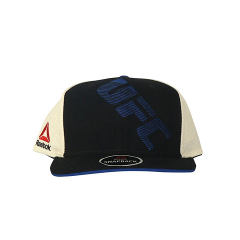 Reebok UFC Men's Black/Blue Authentic Flat Brim Flat Brim Snapback BE7427
